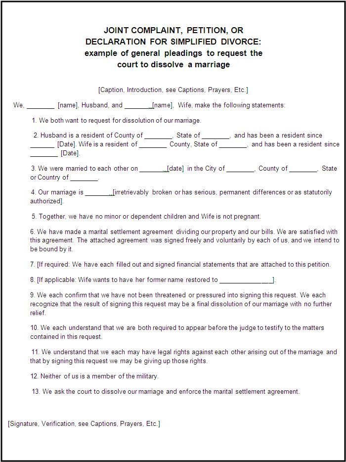 divorce agreement template canada free legal form divorce