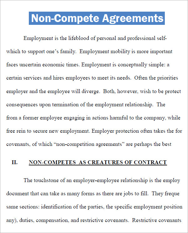 non compete agreement pdf Mini.mfagency.co