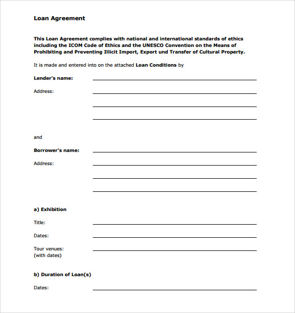 personal loan agreement template and sample | CHARITY | Pinterest
