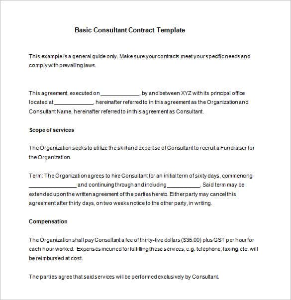 service agreement template between two parties 42 contract