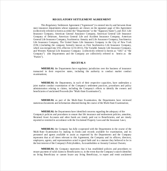 settlement brochure template 12 settlement agreement templates