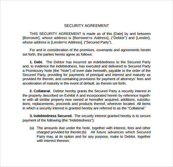 loan and security agreement template 22 images of loan and