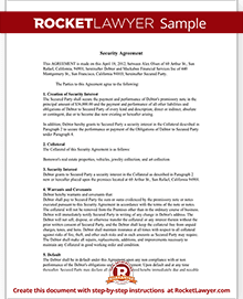 Security Agreement Form UCC Security Agreement Template (with