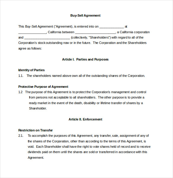 20+ Buy Sell Agreement Templates – Free Sample, Example, Format