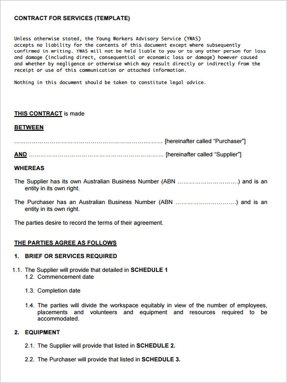 service agreements templates service contract templates 11 free