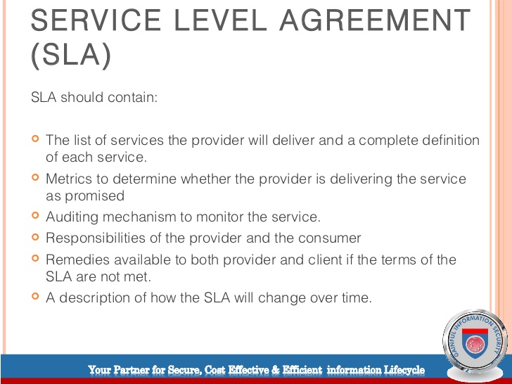 Service Level Agreement Definition Gtld World Congress