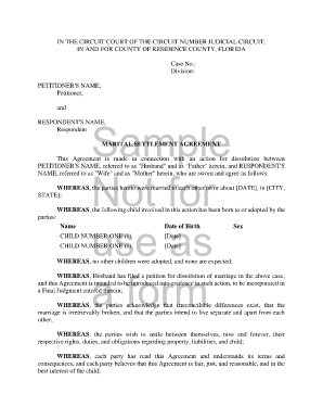Sample Settlement Agreement Forms 9+ Free Documents in Word, PDF