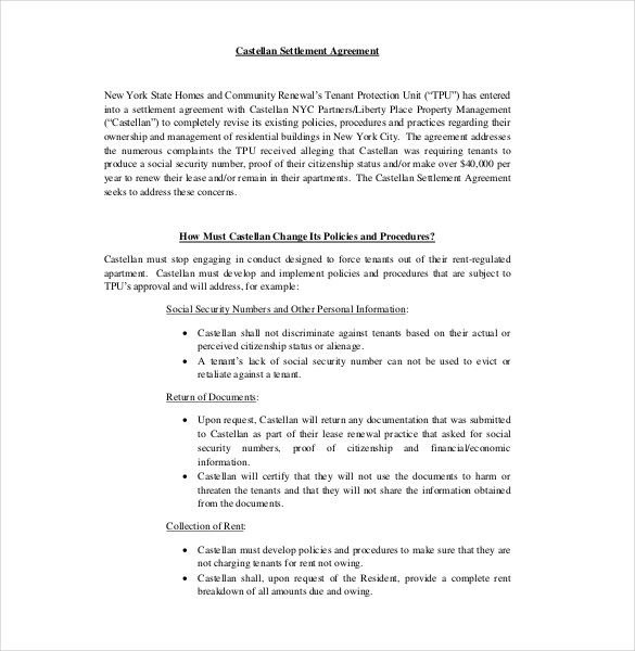 12+ Settlement Agreement Templates – Free Sample, Example, Format