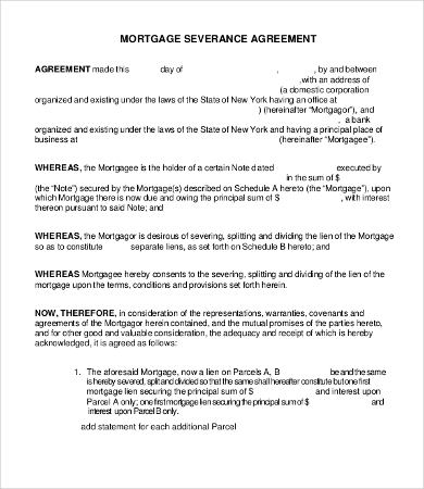 Severance Agreement Templates 8+Free Word, PDF Documents