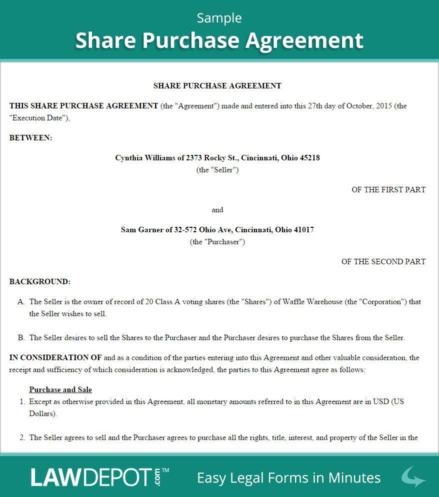 share purchase agreement gtld world congress