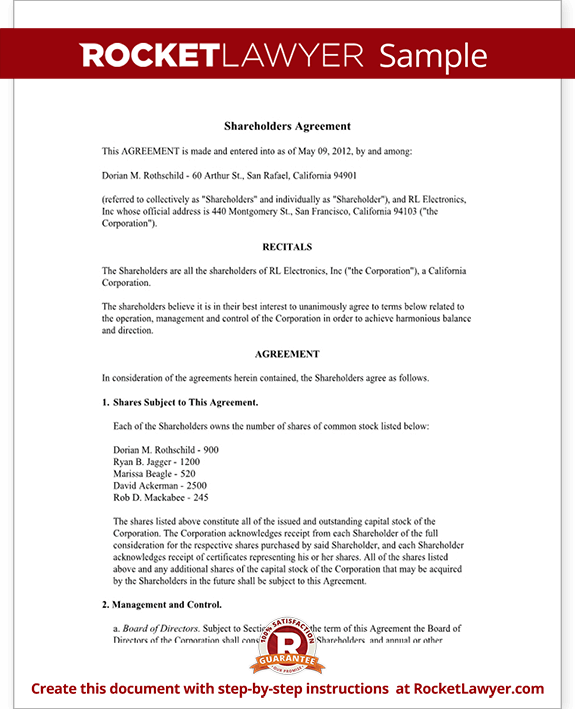 shareholder agreement template shareholder agreement shareholder