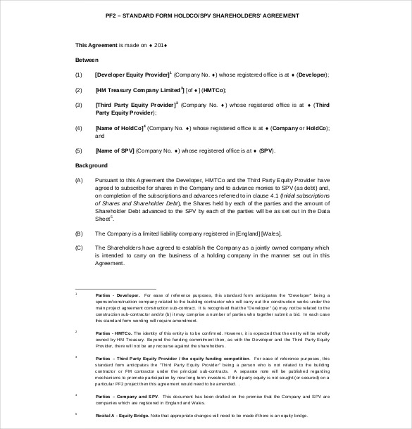 13+ Shareholder Agreement Templates – Free Sample, Example, Format