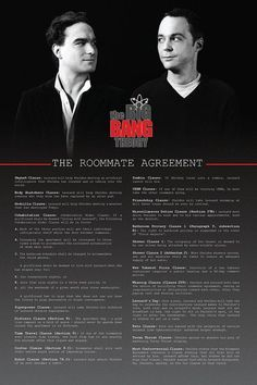 The Roommate Agreement | Big Bang Theory by Sylvester Tan