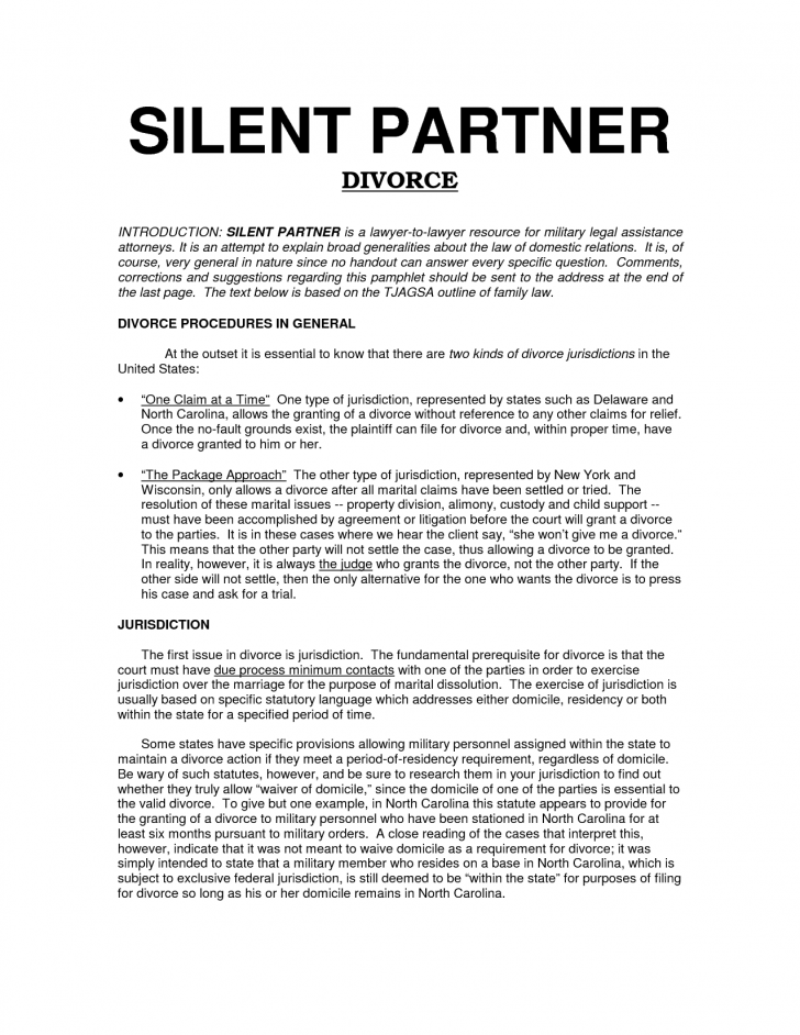 free silent partnership agreement template free silent partner