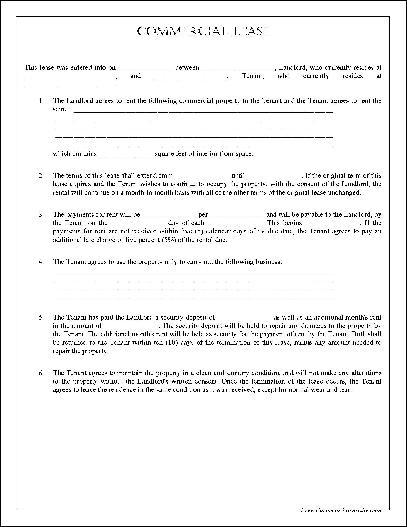 simple commercial lease agreement template free simple commercial