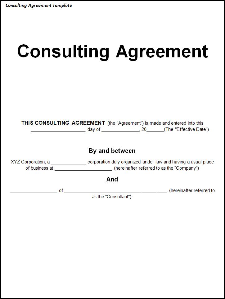 Simple Consulting Agreement Template Gtld World Congress
