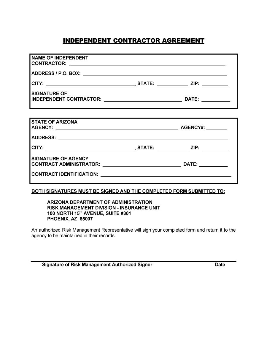 simple independent contractor agreement template Acur.lunamedia.co