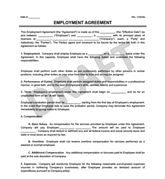 Create an Employment Contract in minutes | LegalTemplates