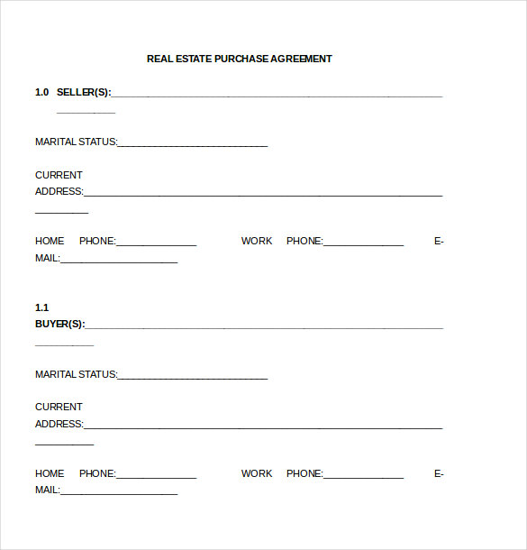 simple purchase agreement template word home purchase agreement
