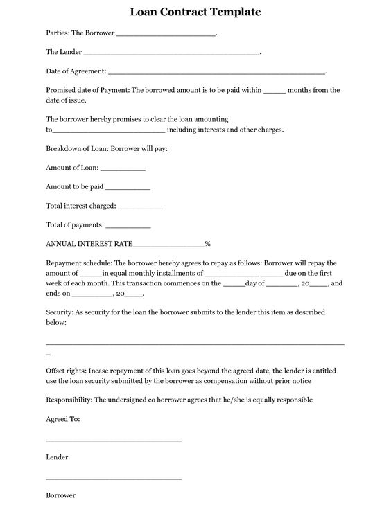 simple loan agreement template free loan agreement contract