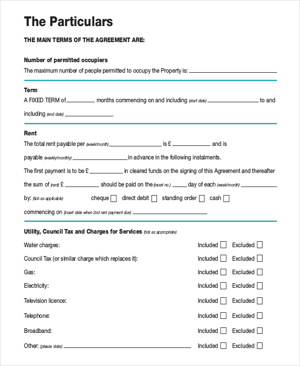 Month to Month Rental Agreement Template – 12+ Free Word, PDF