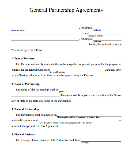 small business agreement template small business partnership