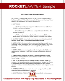 Software License Agreement Template (Form with Sample)