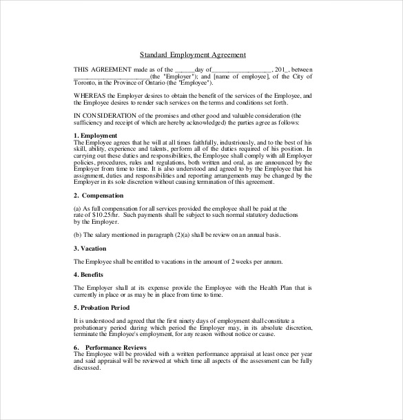 19+ Employment Agreement Templates – Free Sample, Example, Format