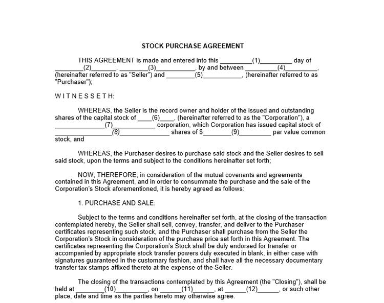 share purchase agreement template free share purchase agreement