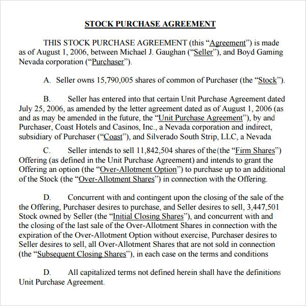 stock purchase agreement template stock purchase agreement 10