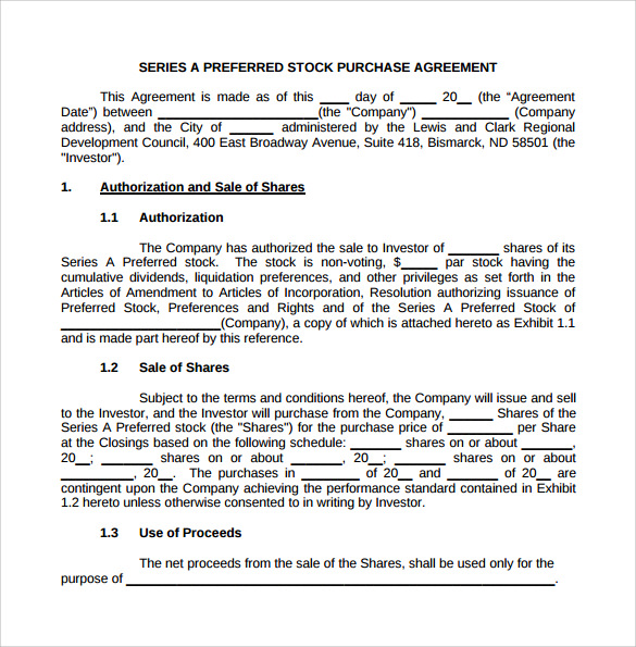 stock purchase agreement template stock purchase agreement 6