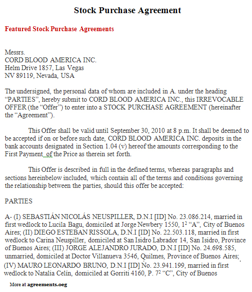 sample share purchase agreement template share purchase agreement