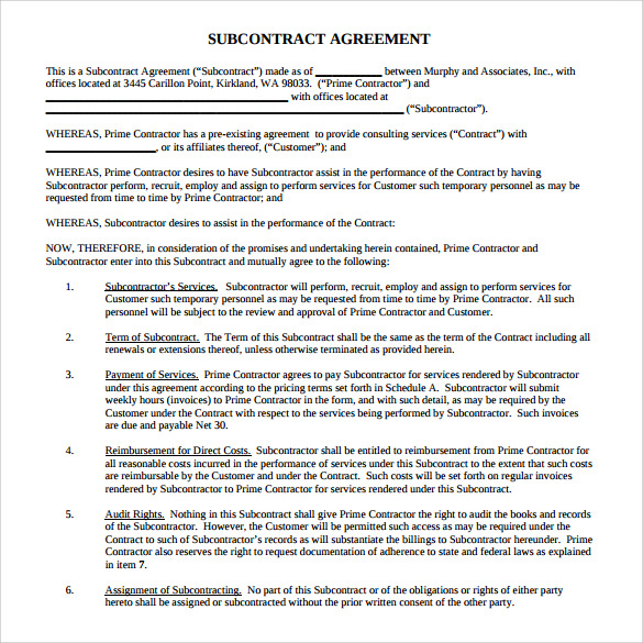 Subcontractor Agreement Pdf | gtld world congress