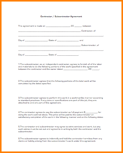 Subcontractor Agreement Template | gtld world congress