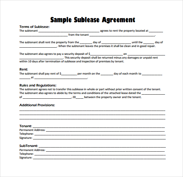 sublet tenancy agreement template uk sublet tenancy agreement