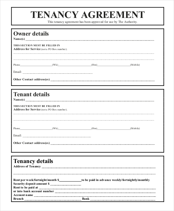 tenancy agreement template tenancy agreement templates kidscareer
