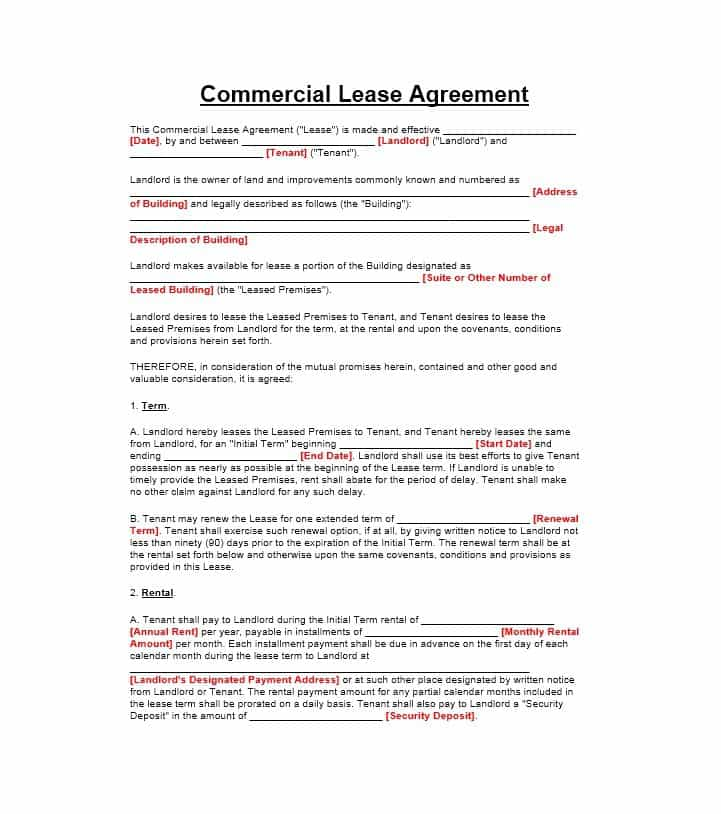 know how agreement template 26 free commercial lease agreement
