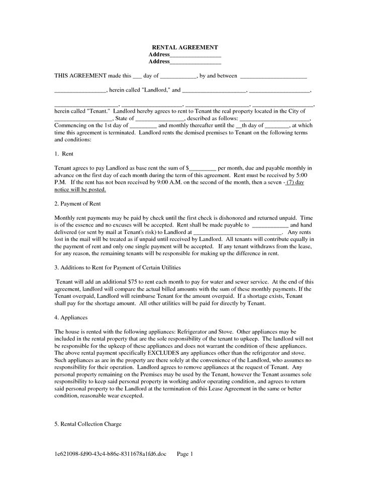 19 Unique Agreement Letter Between Landlord and Tenant Images