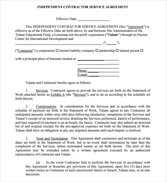 terms of service agreement template sample service agreement 7
