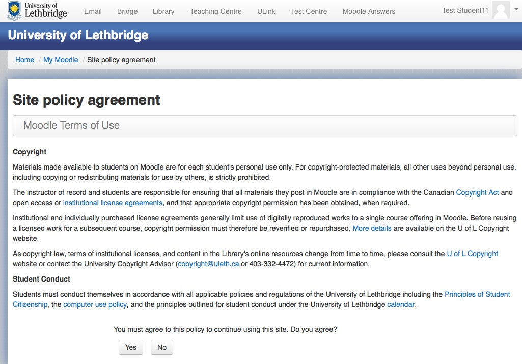 Moodle Terms of Use Policy Agreement Moodle Answers