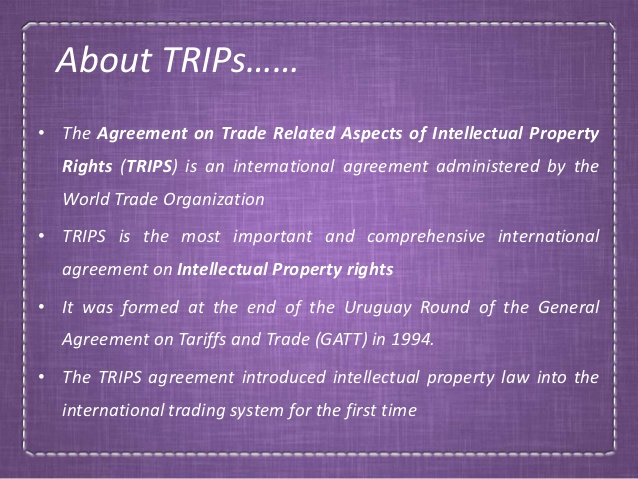 Implication of TRIPS Agreement for Developing Countries