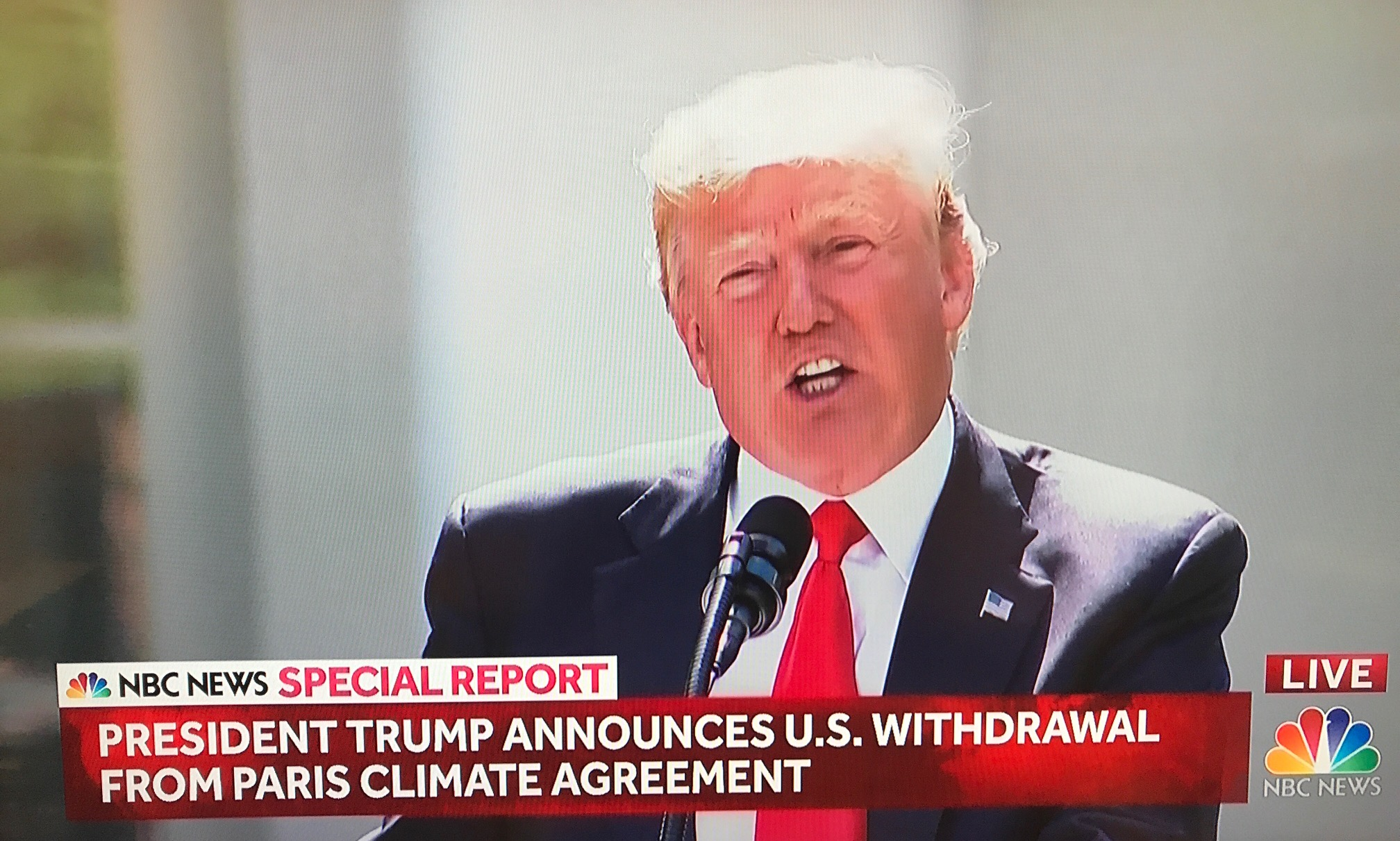 President Trump Announces U.S. Withdrawal From Paris Agreement