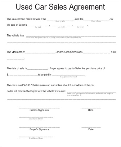 vehicle purchase agreement template vehicle purchase agreement
