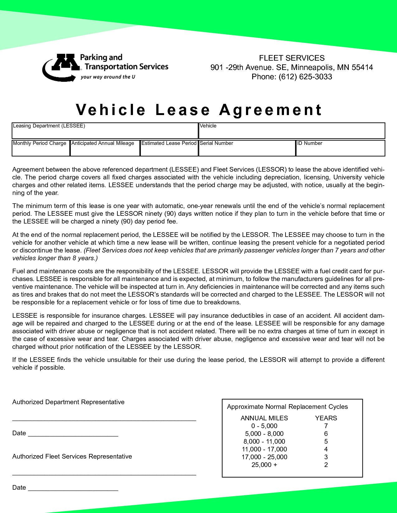 Vehicle Lease Agreement Gtld World Congress