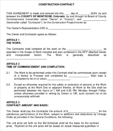 Work Agreement Template 10+ Free Word, PDF Documents Download