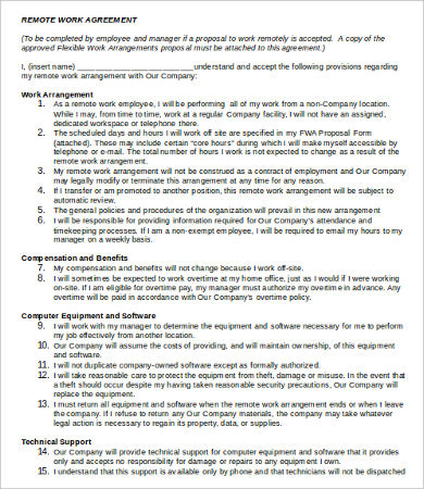 working agreement template work agreement template 9 free word pdf