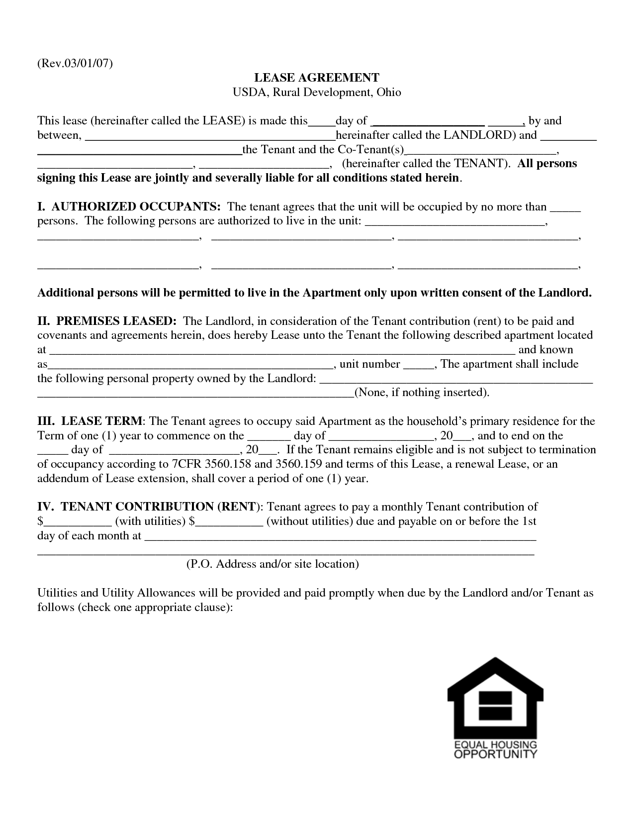 Ohio Rental Agreement Samples | Business Document