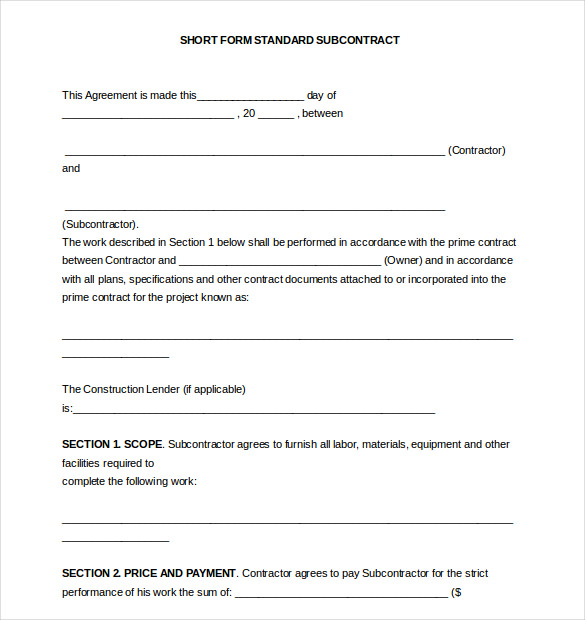 AIA A401 Standard Form of Agreement Between Contractor