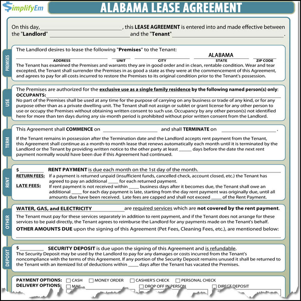 Alabama Rental Lease