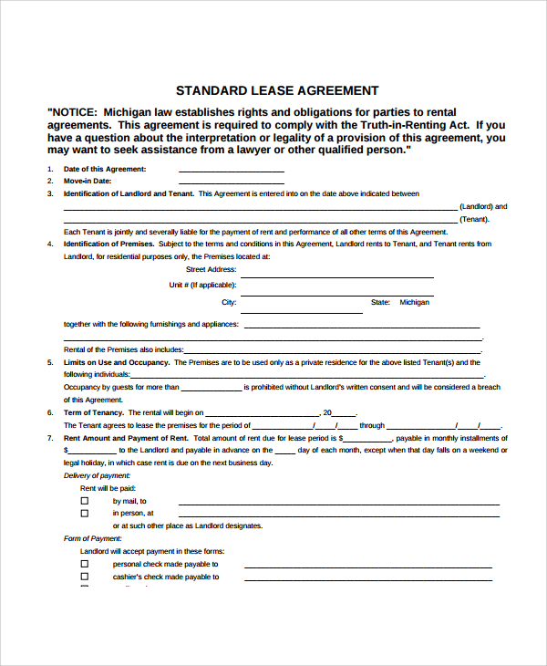 8+ Apartment Lease Agreement Samples, Examples, Templates | Sample